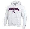 Champion: Arizona Wildcats Arch Logo Hoodie-White