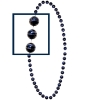 Basketball Beads<br>Navy