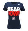 Nike: BEAR DOWN 'A' Slim Fit T-Shirt<BR><B>Women's Navy</B>