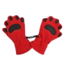 Toddler: Red Wildcat Paw Print Gloves