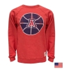 Retro Brand: Heather Red 'A' Logo Basketball Crew Sweatshirt