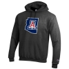 Champion: Arizona State 'A' Outline Hoodie-Charcoal
