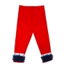 Girls 'A' Red Ruffle Leggings (3T)