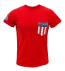 Venley: 'Star' 'Stripes' Flag Pocket 'A' Logo Red T-Shirt