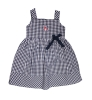 Navy & White Gingham <i>'A'</i> Logo Toddler Dress