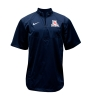 Nike: 'A' Logo ¼ Zip Short Sleeve Navy Hot Jacket