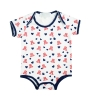 Infant: 'A' Logo and Heart Patterned Onesie