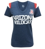 Nike: 'A' Logo ARIZONA WILDCATS Heather Blue V-Neck Top