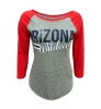 <B>ARIZONA</B> <I>Wildcats</I> Red Sleeved Gray Raglan Top