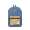 Herschel: Heritage Backpack Navy Crosshatch/Straw