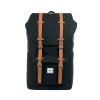 Herschel: Little America Backpack Black/Tan Synthetic Leathe