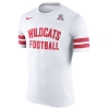 Nike: Arizona Wildcats Football White Jersey T-Shirt