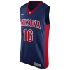 Arizona No. 16 Navy Authentic Basketball Jersey by Nike
