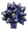 Block 'A' Navy Satin Star Bow