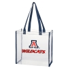 Arizona Wildcats Clear Square Navy Stadium Tote