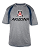 Badger Sport: Arizona Men's Fusion Steel Heather Navy Tee