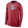 Nike: Arizona Baketball ELITE Shooter Long Sleeve-Red/Navy