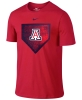 Nike: Arizona Wildcats Baseball Home Plate Tee - Red