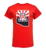 Official Arizona Wear: Logo State Outline Sunrise Tee - Red