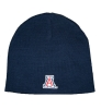 The Game: Navy 'A' Knit Beanie