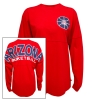 Venley: Red Arizona Basketball Football Long Sleeve T-Shirt