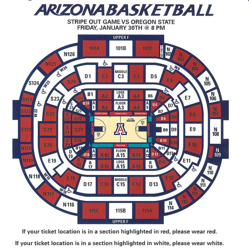 Mckale Center Seating Chart Related Keywords & Suggestions