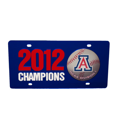 License Plate Frame: Arizona Baseball National Championship