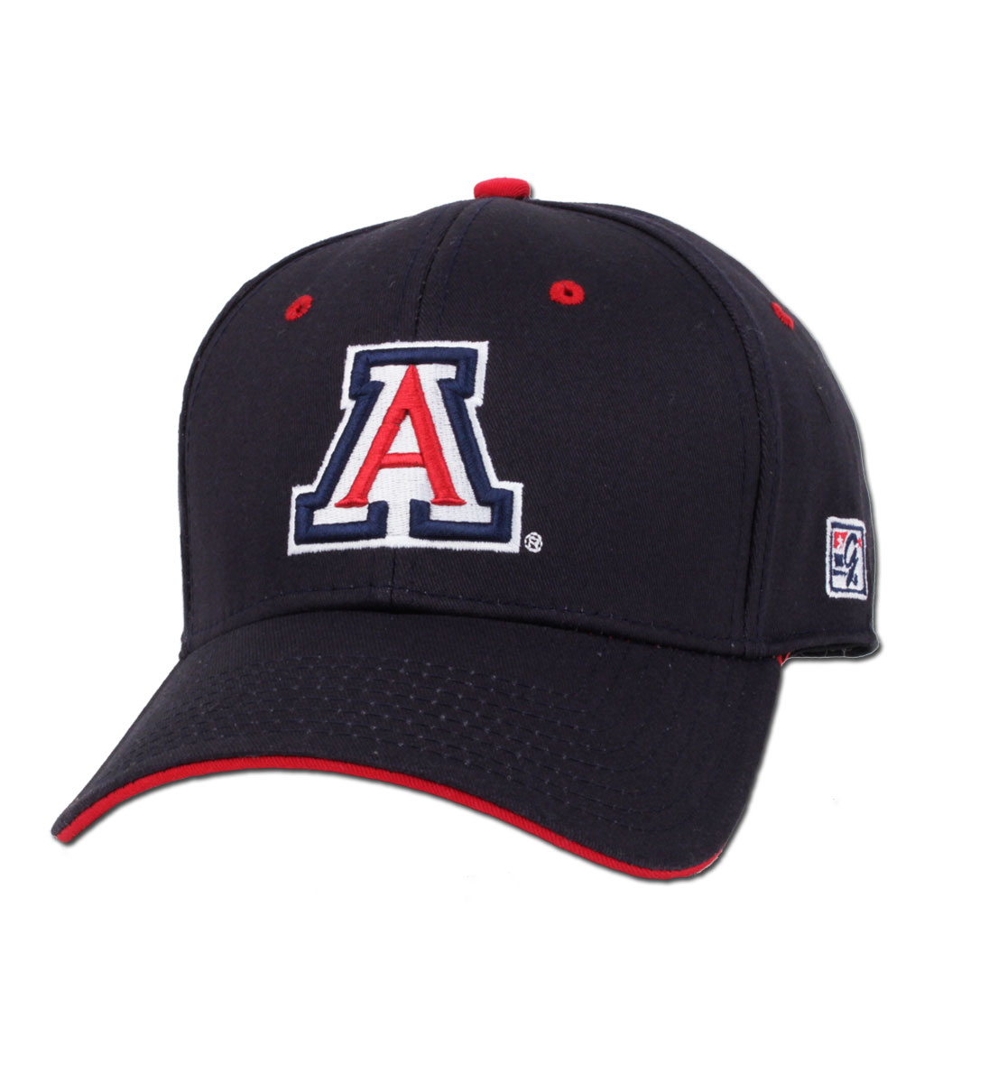The Game: Arizona The Stretch Fit Navy/Red Cap
