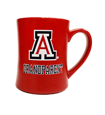 Coffee Mug: 'A' Logo Red Grandparent