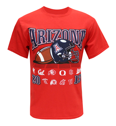 Champion: Red ARIZONA 2013 Football Schedule T-Shirt