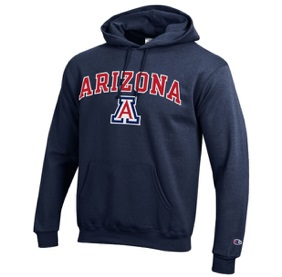 Champion: Arizona Wildcats Arch Logo Hoodie-Navy