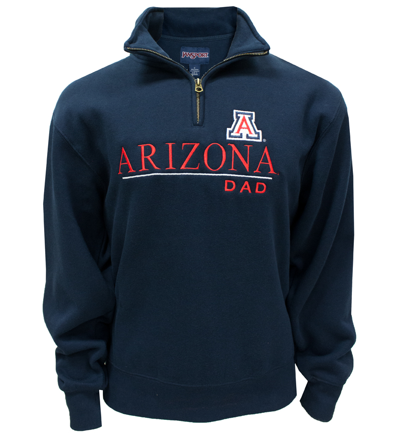 JanSport: 'A' Arizona Dad Navy ¼ Zip Sweatshirt