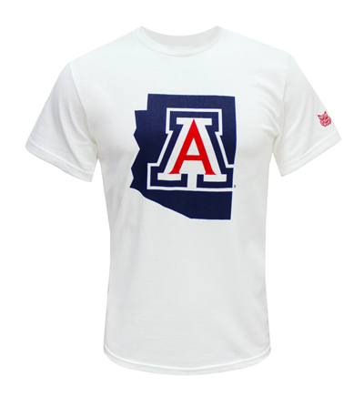 MV Sport: Arizona State Outline White Tee