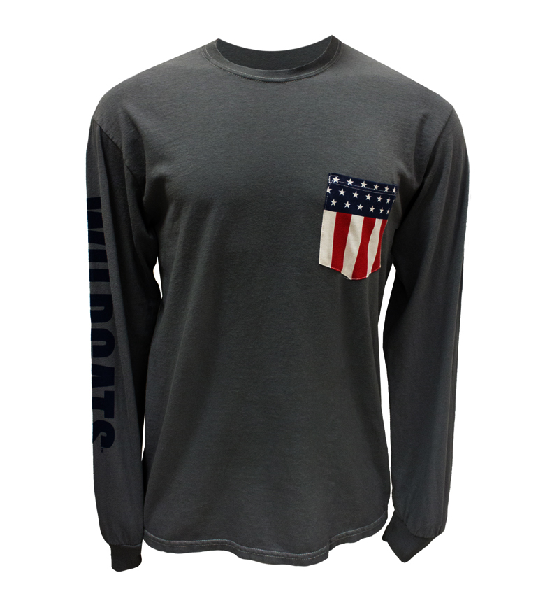 Venley: Arizona Wildcats Flag Pocket Ivan Long Sleeve Tee