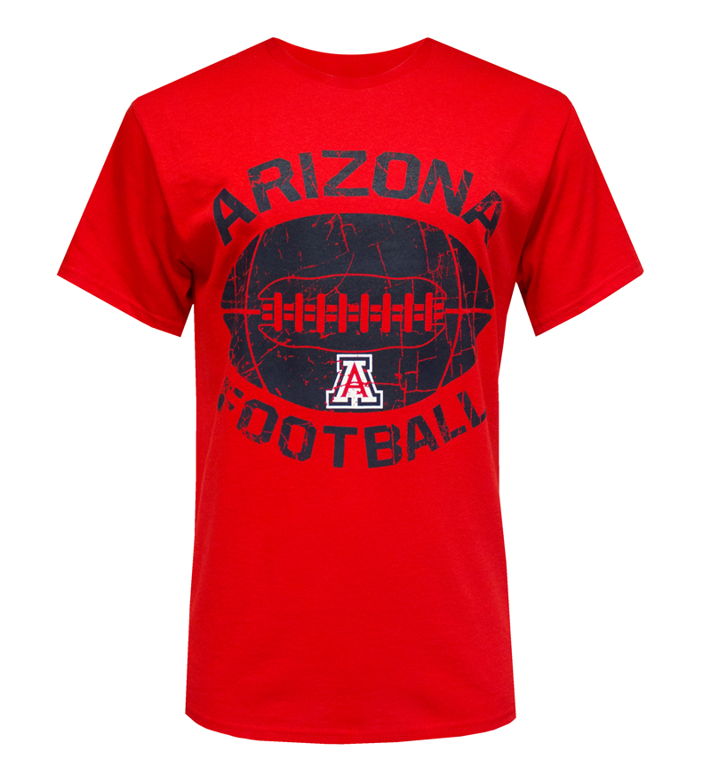MV Sport: Arch ARIZONA Football 'A' Red T-Shirt