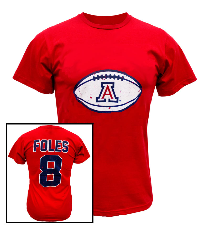 The Victory: Faded WILDCATS 'A' Football FOLES 8 T-Shirt