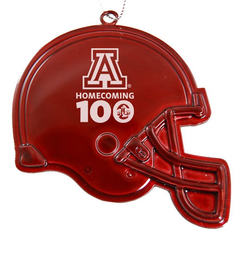 Ornament: 100th Homecoming Football Red Helmet