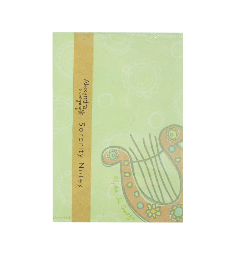 Alexandra & Company Mascot Notepad: On Campus Sororities