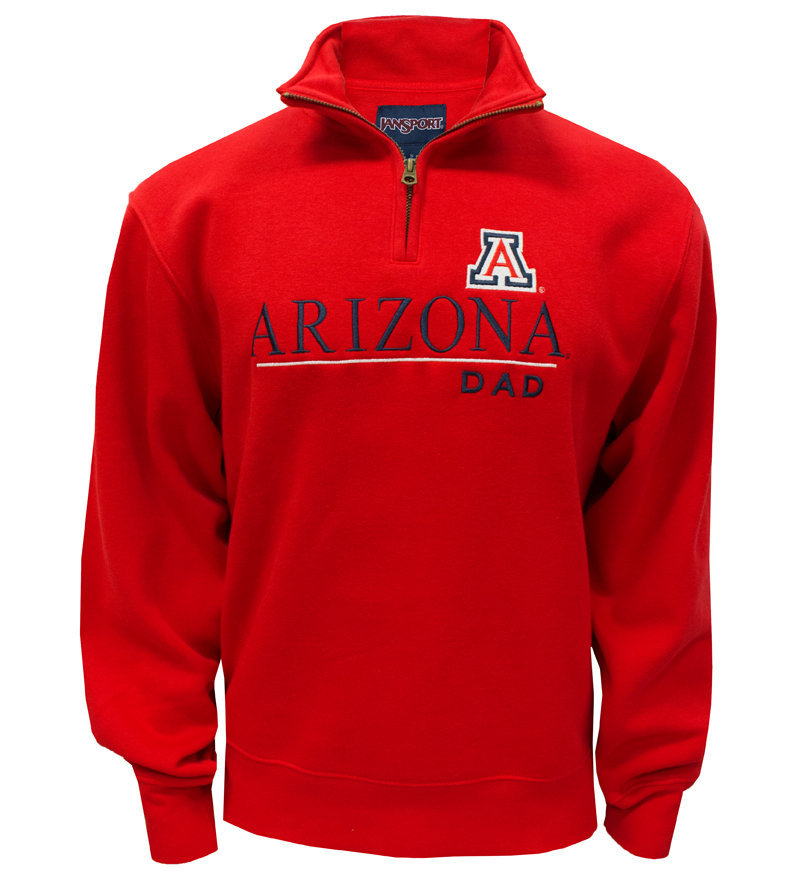 JanSport: 'A' Arizona Dad Red ¼ Zip Sweatshirt
