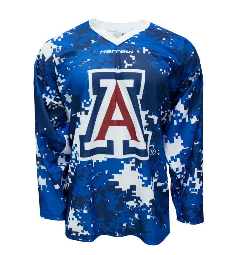 Arizona Hockey Blue Camo Jersey By Harrow Sports