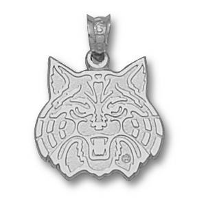 Charm Sterling Silver Arizona Wildcat Pendant