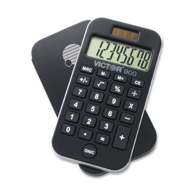 Victor: 900 Pocket Calculator with Cover