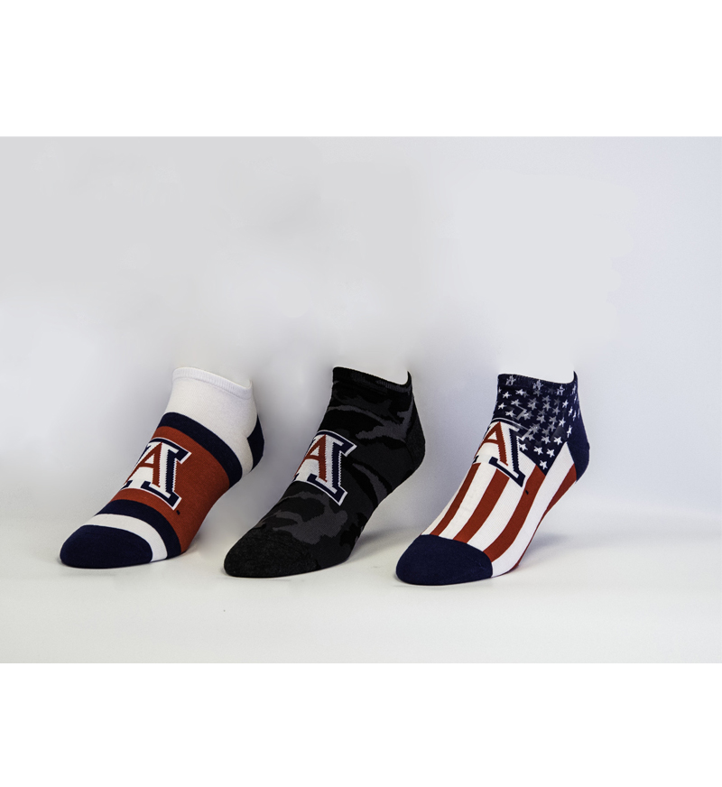 UofA Low Cut 3 Pack Socks