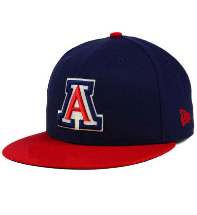 New Era: Navy Snapback with 'A' and Red Brim