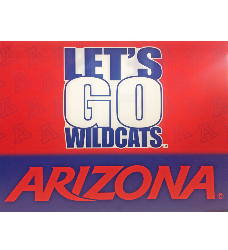Arizona Let's Go Wildcats Lawn Sign