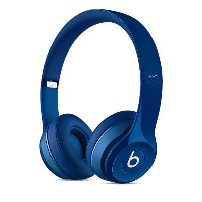 Beats Solo2 On-Ear Headphones - Gloss Blue