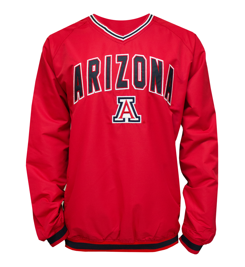 Colosseum: Arizona Red V-Neck Windbreaker
