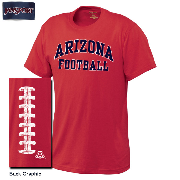 JanSport: Arizona Football Laces On Back Scarlet Red Tee