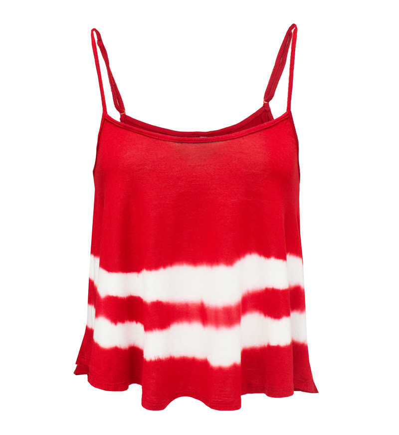 Red and White Tie Dye Cami