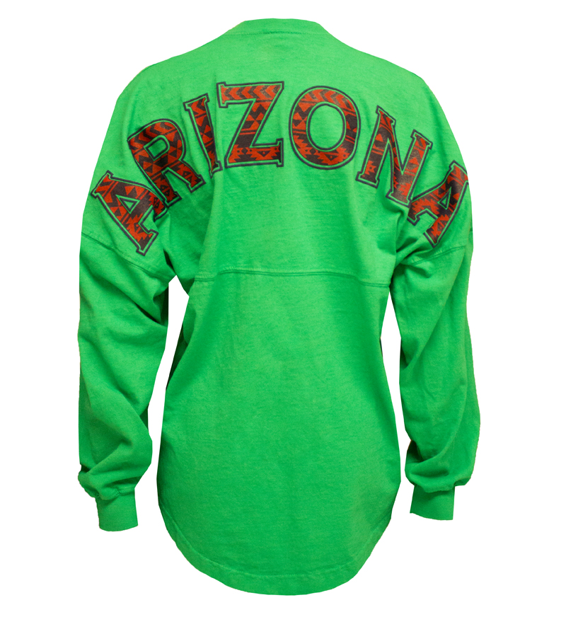 Emerald Green Aztec Arizona Football Jersey Tee